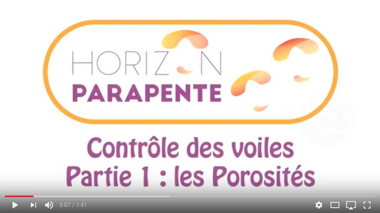 Horizon Parapente analyse porosité