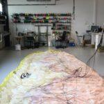Parapente dans l'atelier Horizon lors d'un contrôle Basic